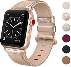 """This leather band suitable for apple watch 38mm 40mm Series 5 / Series 4 / Series 3 / Series 2 / Series 1 / Sports & Edition. Fits wrist size of 5.5"""" - 7.9"""". The strap has an ergonomic design to allow you to adjust the strap easily. For the snake bla..."""