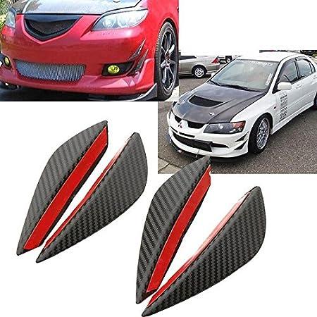 Sedeta 1set 4pcs Car Auto Fit Front Bumper Lip Splitter Fins Body Spoiler Canard Chin Auto