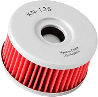 K&N Motorcycle Oil Filter: Premium High Performance Oil Filter designed to be used with synthetic or conventional oils fits some Suzuki DR650 S40 models Oil Filter KN-137