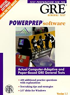 Powerprep Software: Test Preparation for the Gre General Test