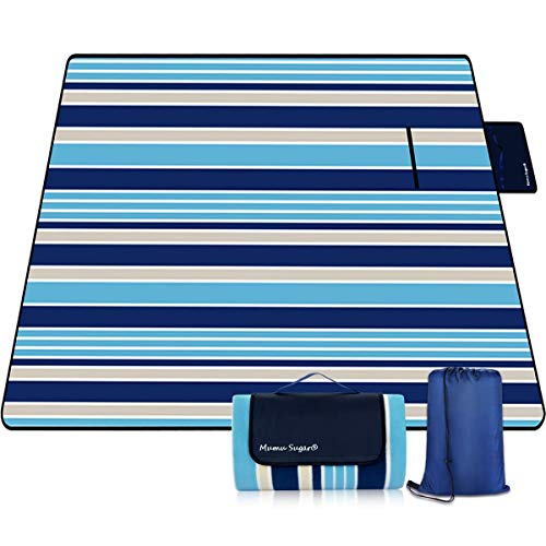 Review Mumu Sugar Outdoor Picnic Blanket, 3-Layer Extra Large Waterproof Portable Picnic Mat - Beach...