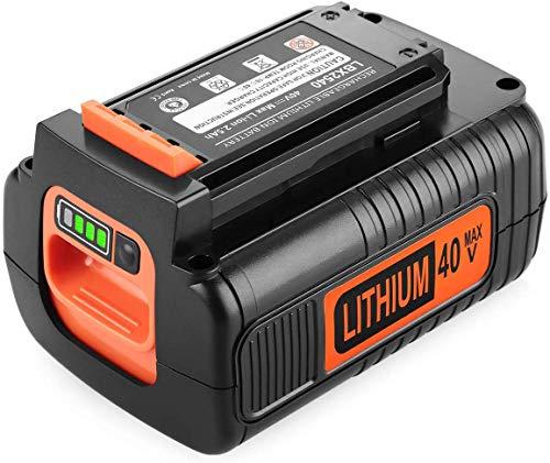 Powilling 40 Volt MAX 2.5Ah Lithium Replacement Battery for Black and Decker 40V Battery LBX2040 LBXR36 LBXR2036 LST540 LCS1240 LBX1540 LST136W Black+Decker Lithium Battery
