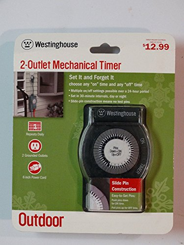 Westinghouse 2 Outlet Outdoor 24 hour Mechanical Timer