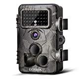 Gosira Motion Activated Trail Camera 120°Wide Sensor Detection 0.4S Trigger 1080P Night Vision 42Pcs 940nm No Flash IR LED Monitor Nature Garden Outdoor Security Game Deer Cam