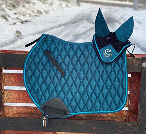 Equipride GP SADDLE PAD SHIMMER WITH MATCHING FLY VEIL SPARKLE GLITTER...