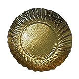 PZ 50 VASSOIO DISCO GOLD DI CARTONE 12 CM. IDEALE PER DOLCI PASTICCINI MONOPORZIONI PER ALIMENTI PAPER