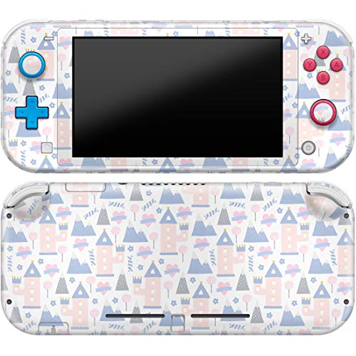 Cavka Vinyl Decals Skin for Switch Lite (2019) Sticker with Design Cute Towers Print Cover Protector Wrap Durable Full Set Protection Faceplate Princess Castle Pink Hearts Girls Gentle Art