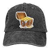 Jopath Cofre de madera vintage con sombrero de béisbol de oro