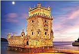 OAEC Puzzle De 1000 Piezas para Adultos DIY Grande Jigsaw Puzzles Torre De Belem, Lisboa Challenging Teen Casual Puzzle Educational Game Juguete Regalo 75X50Cm