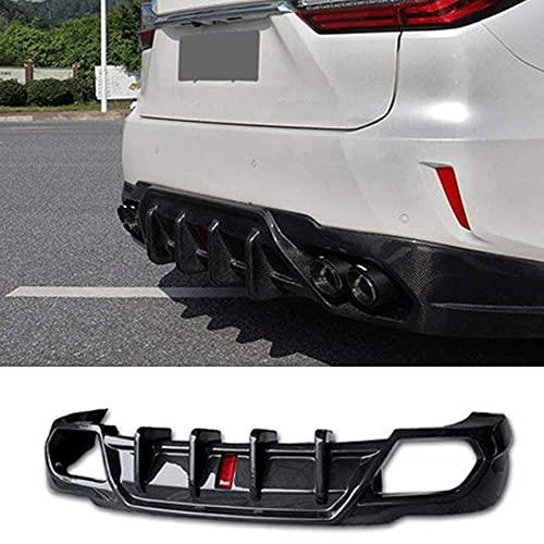 Rear Bumper Spoiler Rear Diffuser Protector Lip,Diffuser Lower Spoiler Lip,for Lexus RX300 200t 2016 2017 2018 2019 with LED Light