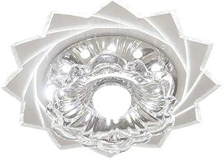 Artpad - Lámpara de techo de cristal, 5W, luz blanca, moderno, con forma de flor, pasillo, entrada del dormitorio, luz de balcón, CA 220V (montaje en superficie/montaje empotrado)