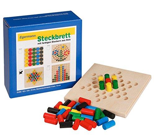 Unbekannt Egermann EH222/231 - Steckspielbrett Holzsteckspiel Stern, Kleinkindspielzeug