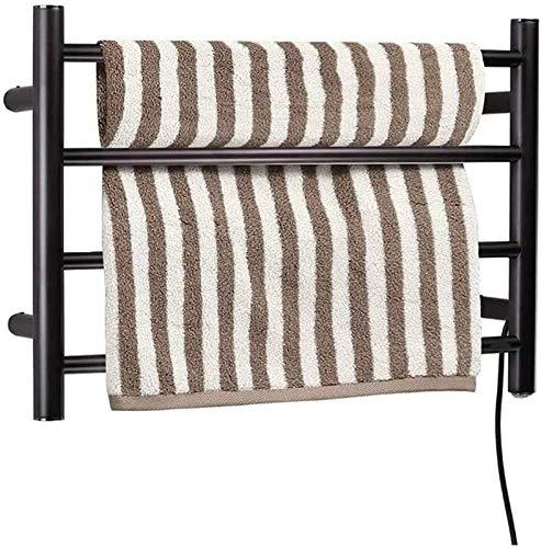 Toallero eléctrico Railleñas de toallas con calefacción Toalla Calentador, Toalla Calentada, Toalla Calentada, Toalla eléctrica Acero Inoxidable Toalla Eléctrica Calentador Mueble Montado Aceite Frota
