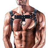 Men's Leather Body Chest Half Harness...