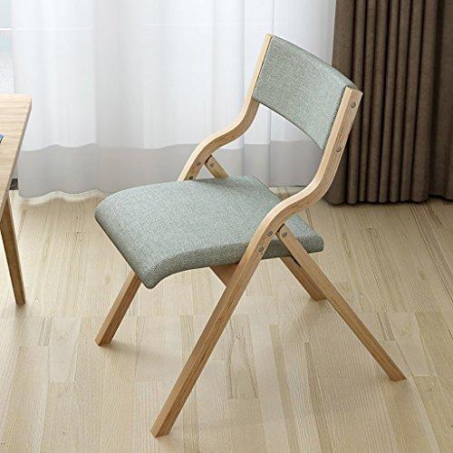 MXXYZ Klappsessel klappstühle Tuch Truss Klappstuhl Stuhl Stuhl Retro Computer Stuhl Gebogene hölzerne Rücken kreative Schreibtisch und Stuhl