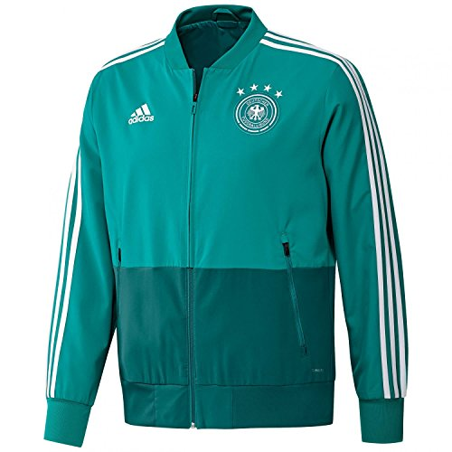 adidas Herren DFB Presentation Jacket Jacke, EQT Green s16/White/Real Teal s10, XS