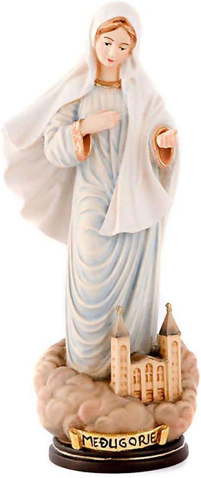 Holyart Statue pl/âtre nacr/é Notre-Dame de Medjugorje 35 cm