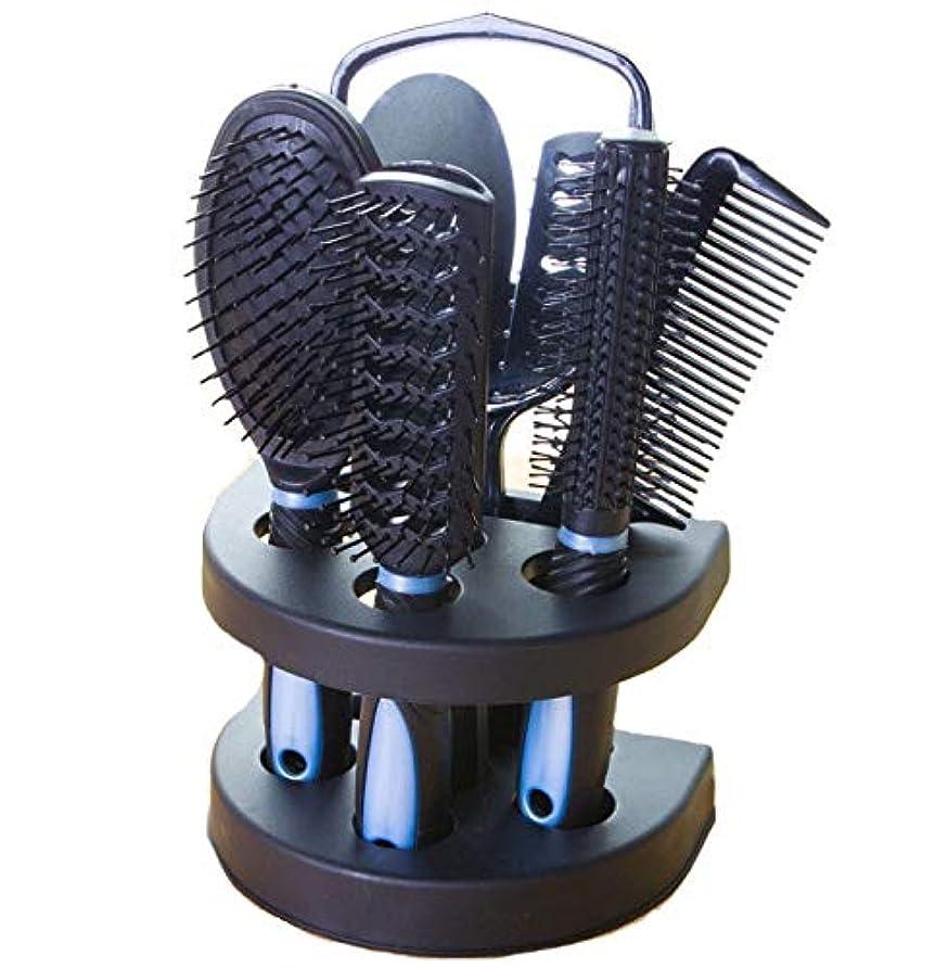 肝自分の大気ヘアコーム、ブルーマッサージコーム、ミラー付き環境にやさしいコーム、帯電防止エアバッグコーム、ロングヘアコーム、ヘアコーム、理髪エアバッグコーム5個セット、理髪コームギフト