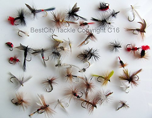 Mosca seca pesca moscas mejor UK x 40 trucha ROD FLY...
