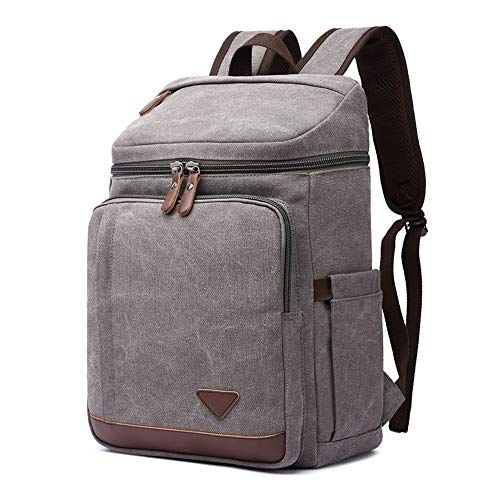 Zhang New The Latest Waterproof Computer Bag Casual Shoulder Bag Men's Outdoor Travel Sports Backpack 02 (Color : Grey)