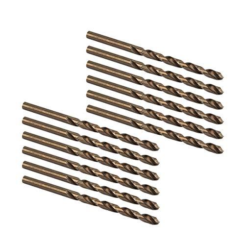 POWERTEC QDB2015 Cobalt Drill Bit 3/16-Inch | 135 Degree Drill Bit Set - 12 Pack