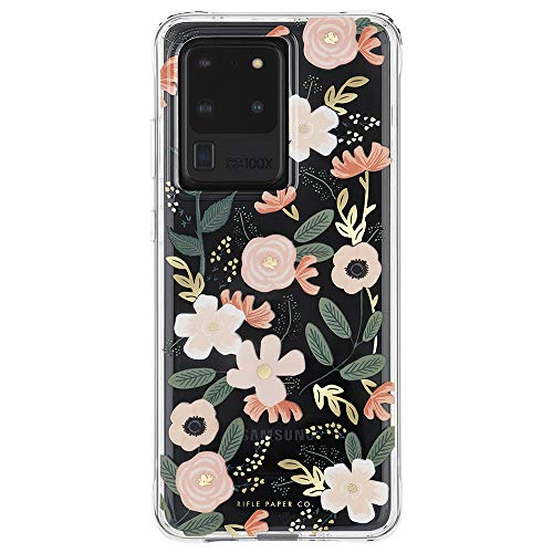 Rifle Paper CO - Case for Samsung Galaxy S20 Ultra - Gold Foil Accents - Wild Flowers