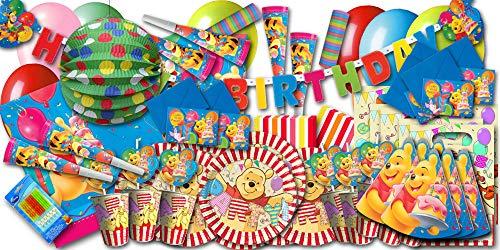 Winnie Pooh Kindergeburtstag Partyset XXL - Partygeschirr & Partydeko im Sparset