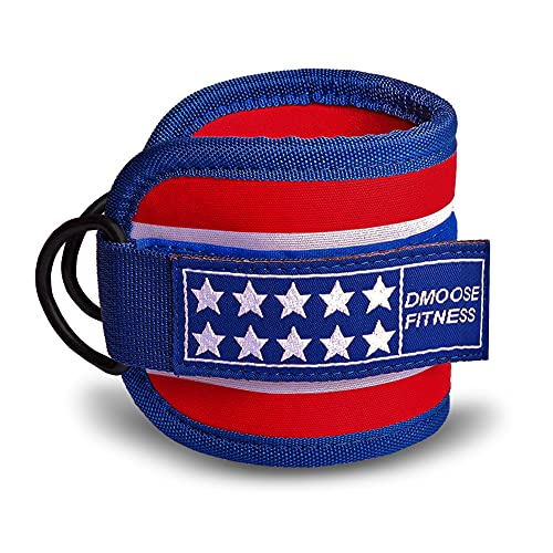 DMoose Fitness Ankle Strap for Cable Machines for Kickbacks, Glute Workouts, Leg Extensions, Curls,...