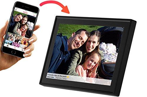 """Denver PFF-1011BLACK Marco digital de fotos de 10.1"""" con Wi-Fi, Temporizador, Resolución 800 x 1280, 10"""