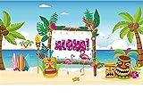 KAHEIGN 185CM x 110CM Telón De Fondo De Fiesta Hawaiana Aloha, Banner Grande De Decoración De Fiesta Luau De Verano Banner De Fondo De Cabina De Fotos De Fiesta Tropical Hawaiana Aloha
