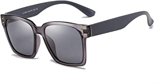 SGJFZD Square Vintage Retro Outdoor Seaside Sunscreen UV400 Polarized Sunglasses Fishing Ladies' Polarized Sunglasses Trendy (Color : Gray)