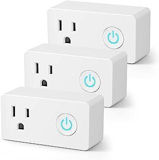 BN-LINK Enchufe inteligente WiFi de alta resistencia, sin hub, con función de monitorización de energía y temporizador, co...