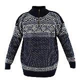 HomeOfSocks - Maglione originale Norvegese per autunno e inverno, in pura lana vergine al 100% blu navy S
