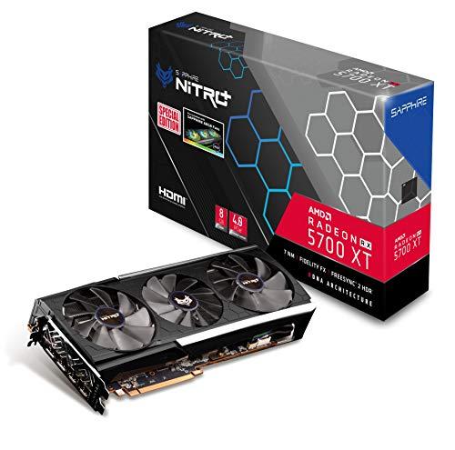 Sapphire 11293-05-40G Radeon NITRO+ RX 5700 XT 8GB GDDR6 Dual HDMI / Dual DP OC (UEFI) Special Edition PCIe 4.0 Graphics Card