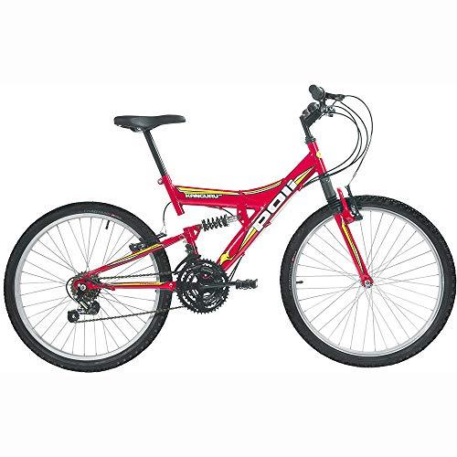 Bicicleta Full Suspension Kanguru Aro 26 Vermelha Polimet Unissex Vermelho Outro (especifique na descrição do produto)