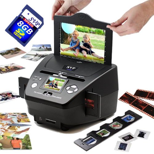 Why Choose SVP PS9790 Black(with 8GB) 3-in-1 Digital Photo/Negative Films/Slides Scanner with Built-...