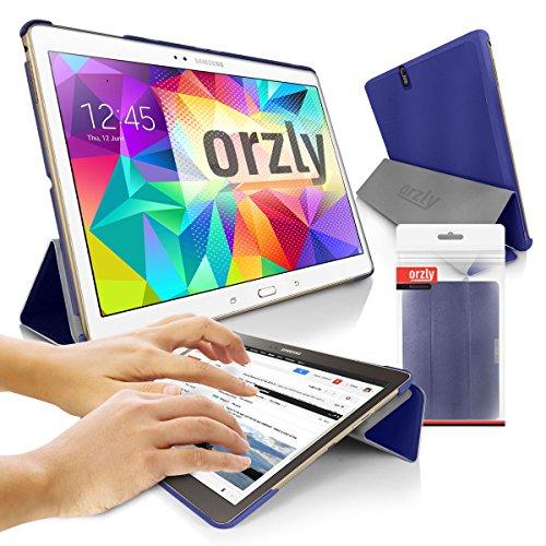 Orzly® - SAMSUNG GALAXY TAB S (8,4 Zoll) SlimRim Tablet Stand Hülle / Schutzhülle mit integrierter Standfunktion - Hülle in BLAU ( Alias: Orzly SlimRim ) - ULTRA SLIM Tablethülle / Fall / Tasche / Folio mit MAGNETISCHEN DECKEL & AUTOMATISCHE STANDBY SENSOR für AUTO SCHLAF / WACH - Entworfen von ORZLY® ausschließlich für SAMSUNG GALAXY TAB S 8.4 Tablet (Alias: 2014 Modell / 8,4 Zoll Version / etc.)