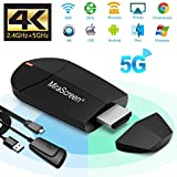 Wifi Display Dongle – 2.4G + 5G Wireless 4K HDMI Display Adapter, Mini Mirroring Supporto Miracast AirPlay DLNA per Android Smartphone/PC/MacBook su TV Monitor / Proiettore