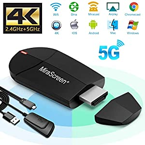 Weeygo Dongle – Adaptador de Pantalla HDMI inalámbrico de 2,4 G + 5 G 4 K para Android Smartphone/PC/MacBook a TV Monitor/proyector