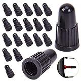 XCOZU 20 tapones de plástico para bicicleta, color negro, tapas de válvula de...