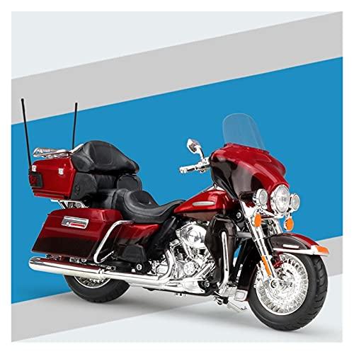El Maquetas Coche Motocross Fantastico 1:12 Aleación De Simulación Para Harley Avenue Glide 2015 STREET GLIDE Modelo Motocicleta Especial Colección Adultos Pantalla Coche Juguete Regalos Juegos Mas Ve