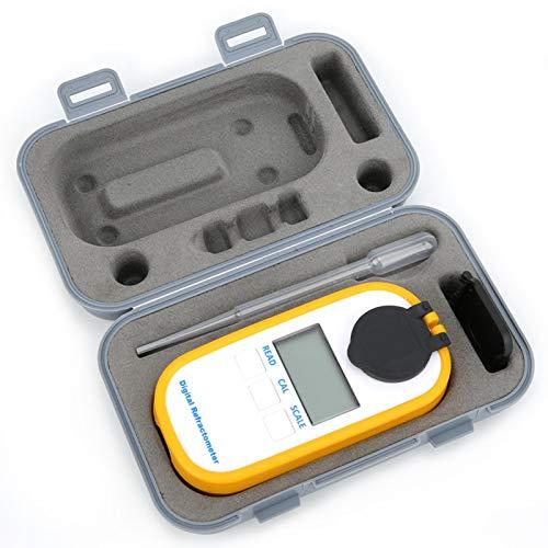 Demeras DR103 Digitales Refraktometer, Zucker Kaffee Meter Refraktometer Honig Bier Brix Konzentration Refraktometer Wein Meter Tester(DR103 Weinzähler)