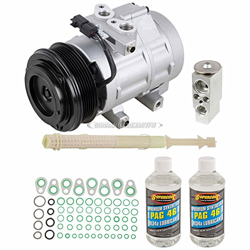 AC Compressor & A/C Kit For Ford Expedition & Lincoln Navigator 2007 2008 - Includes Drier, Expansion, Oil & O-Rings! - BuyAutoParts 60-81373RK NEW