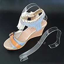 No.2 Warehouse Pack of 10 Acrylic Sandal Shoe Store Display Stand Forms Inserts + a Piece of Clean Cloth