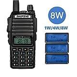 BaoFeng Walkie Talkie 8W Triple 8w/5w/1w UV-82 Two Way Radio Tiene Capacidad...