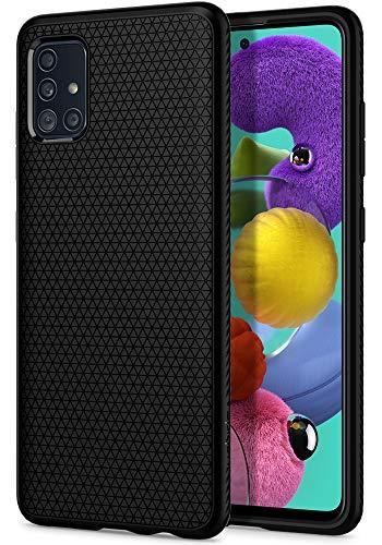 Spigen Liquid Air Kompatibel mit Samsung Galaxy A51 Hülle ACS00601 Stylisch Muster Design Handyhülle mit Luftpolster Schutzhülle Capsule Hülle Black