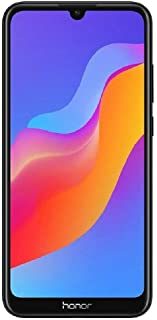 "Honor 8A (32GB) 6.09"" HD+ Display, Dual SIM 4G LTE GSM Factory Unlocked Smartphone - International Version JAT-LX3 (Black)"