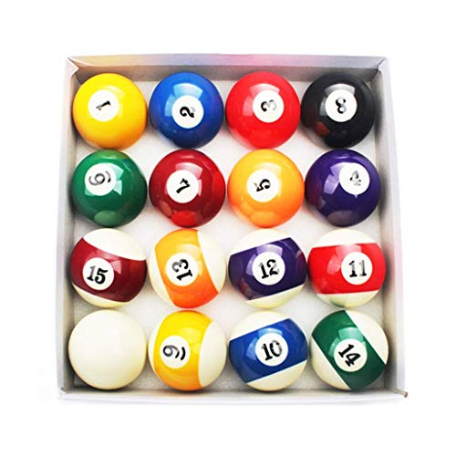ZHTY Billard Balls, Resin 2 1/4 Zoll American Pool Spots und Stripes Balls Billardzubehör