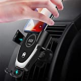 ASMARPA Chargeur de voiture sans fil rapide 10 W compatible iPhone 12/12 Mini/12 Pro/12 Pro Max/SE...