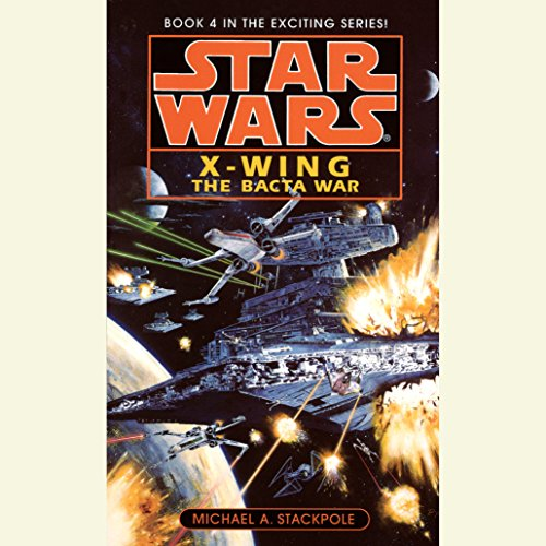 Star Wars: The X-Wing Series, Volume 4: The Bacta War                   By:                                                                                                                                 Michael A. Stackpole                               Narrated by:                                                                                                                                 Anthony Heald                      Length: 3 hrs and 4 mins     207 ratings     Overall 4.5